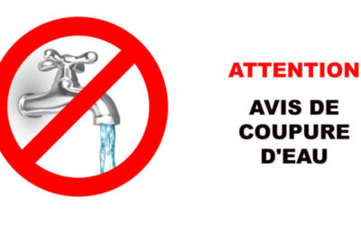 Coupure d'eau rue Des...